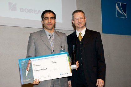 Said Mehdiabadi, winner of the PhD thesis award, and Alfred Stern, Borealis Senior Vice President Innovation & Technology