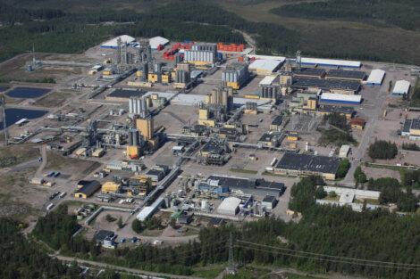 Ilmakuva ISCC+ -sertifioidusta Borealiksen tuotantopaikkakunnasta Porvoossa