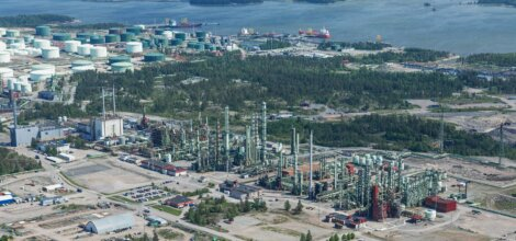 Petrochemical compound in Porvoo, Finland
