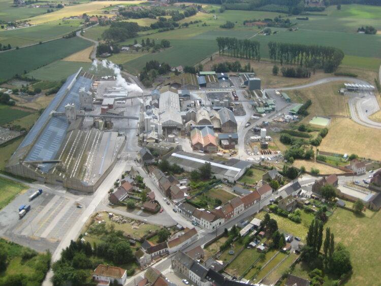 Rosier's fertilizer production location in Moustier, Belgium