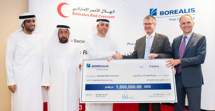 Borealis donation to Emirates Red Crescent provides refugee relief