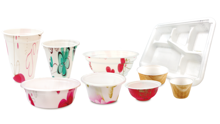 High melt strength polypropylene (HMS PP) foam food containers