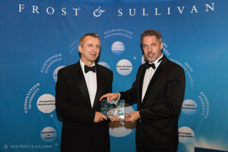 Russell Tew, Borealis Healthcare New Business Development Manager, at the Frost & Sullivan Award Ceremony, November 2016