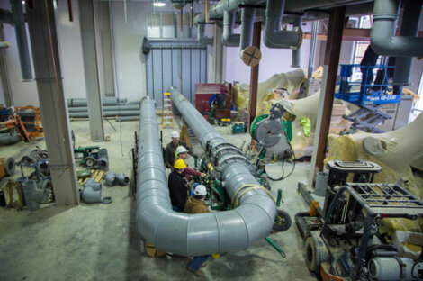 Fusion welding of large diameter PP-RCT Pipe System for a Chiller Plant