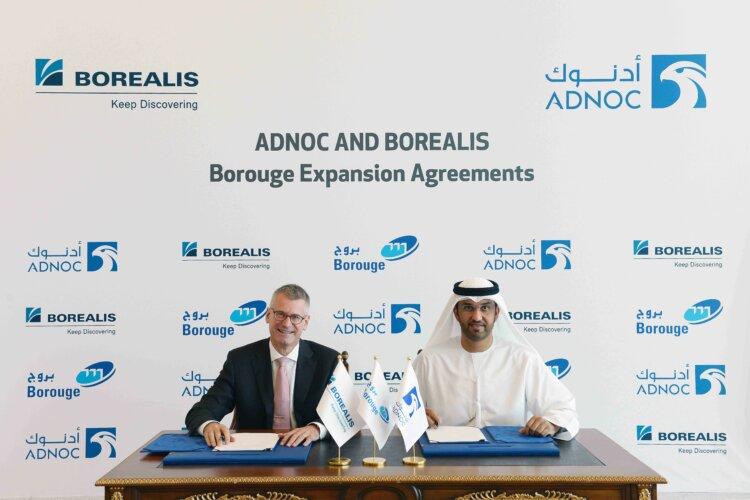 ADNOC et Borealis signent un accord visant   à étendre et développer leurs activités   pétrochimiques communes à Ruwais
