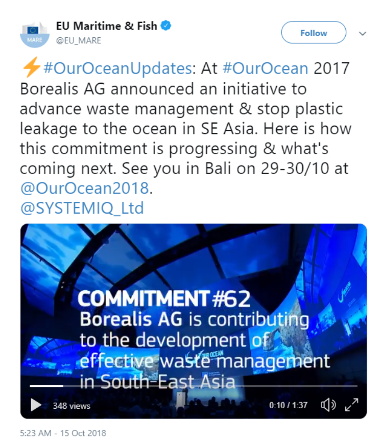 photo: Twitter Screenshot #OurOceanUpdates
