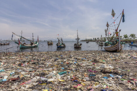 photo: Fishing port in Muncar, East Java, Indonesia