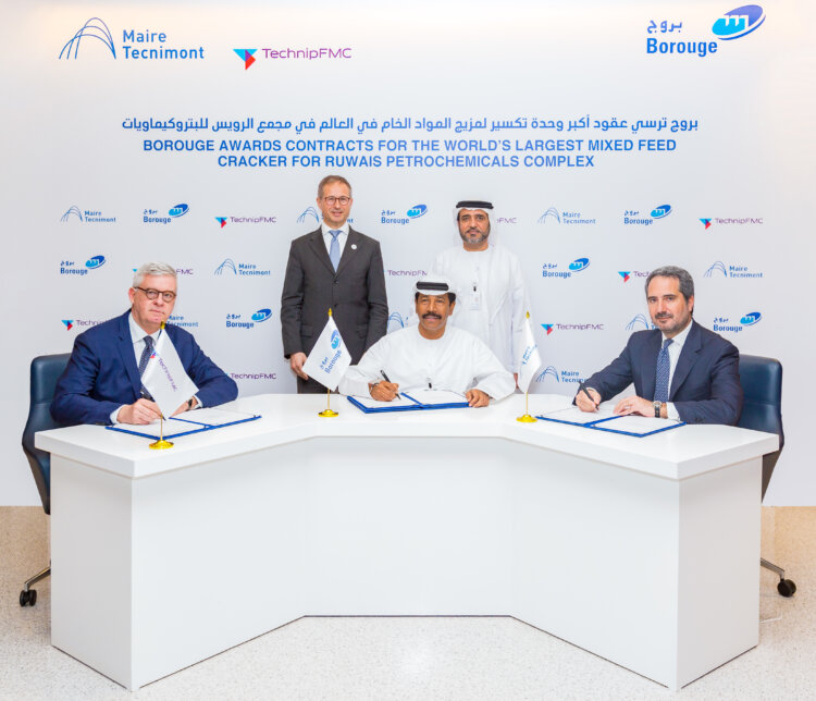 Signing ceremony: Borouge awards contracts for the world's largest mixed feed cracker for Ruwais petrochemical complex