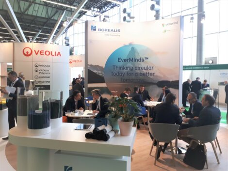 Photo: Borealis EverMinds™ - establishing circular thinking with value chain partners at the Plastics Recycling Show Europe (PRSE)