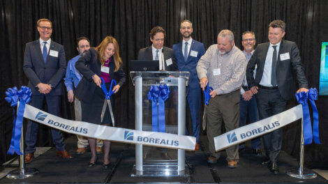 photo: Borealis leaders and local community representatives celebrate the opening of Borealis compounding facility in Taylorsville, USA