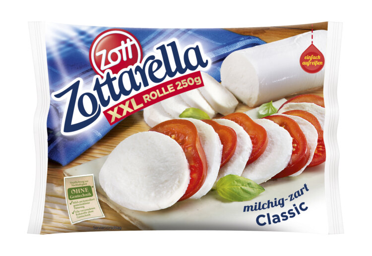 Photo: Innovative and sustainable multilayer packaging used for a specially sealed mozzarella packaging for ZOTT Gourmet Dairy