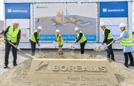 Photo: Borealis Executive Board with Alderman Annick De Ridder (middle) and Ambassador Elisabeth Kornfeind (right)