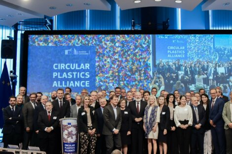 photo: Circular Plastics Alliance conference in Brussels.