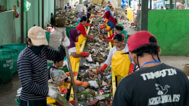 photo: Project STOP has created 90 full-time jobs in waste management.