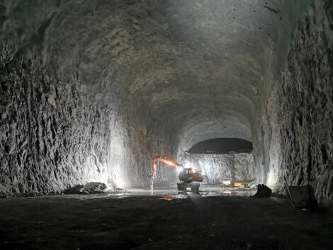 photo: Borealis naphtha cavern excavation In Porvoo Finland
