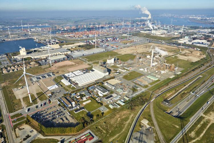 Foto: Luftbild des ISCC PLUS zertfizierten Borealis Standortes in Kallo, Belgien