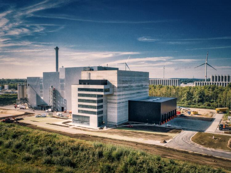 Foto: Biostoom Abfallkraftwerk in Beringen, Belgien.