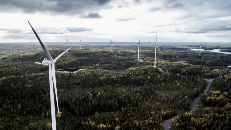 photo: Kronoberget wind farm in Sweden