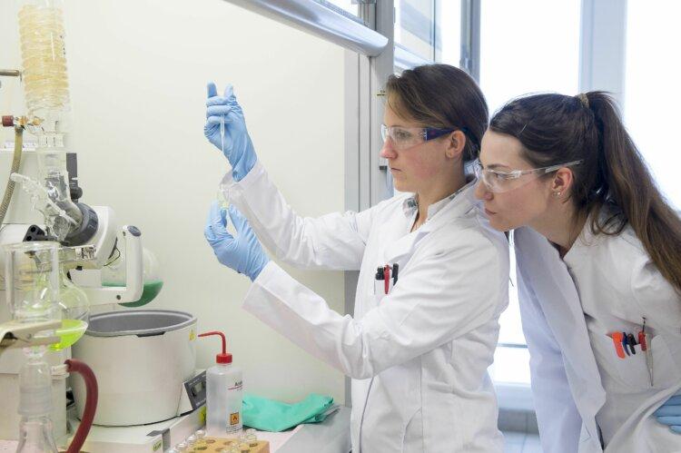 Photo: Researchers in Borealis' Innovation Headquarters in Linz, Austria