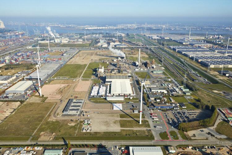 photo: Aerial view of the Borealis location In Kallo Belgium