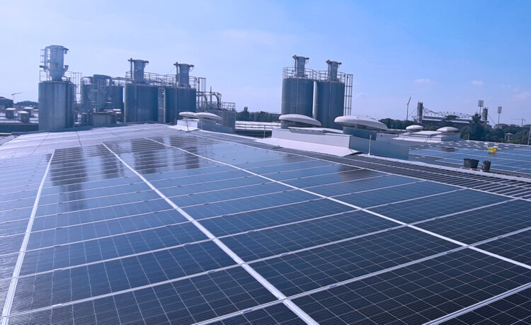 Photo: The solar installation at the Borealis site in Monza is the first of several on-site solar projects planned to generate renewable electricity for production operations in the future.