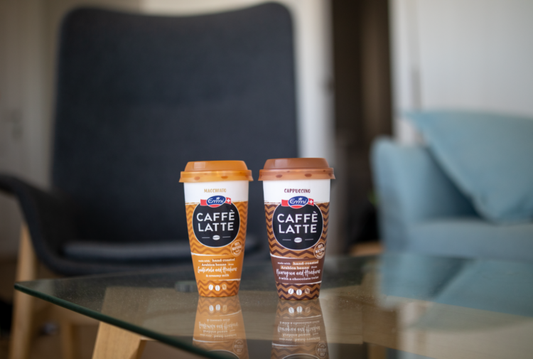 Photo: Focusing on recyclable packaging and the use of recycled  materials, together with Borealis and Greiner Packaging, Emmi is taking their  next big step with the Emmi CAFFÈ LATTE brand.