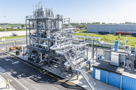 Foto: Chemisch gerecycleerde grondstof geleverd door Renasci zal in verschillende Borealis locaties gebruikt worden voor de productie van Borcycle C circulaire polyolefinen en circulaire basischemicaliën.